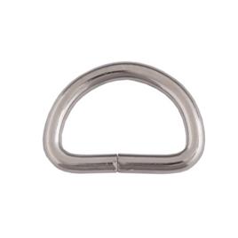 Полукольцо 25х16мм (4мм) никель роллинг