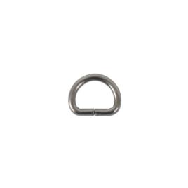 Полукольцо 10х7,5мм (2мм) блек никель роллинг