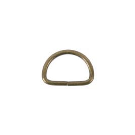 Полукольцо 20х12,3 мм (2,4мм) антик роллинг