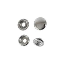 Кнопка галант 15мм кольц (нога 6мм) (латунь) никель роллинг