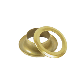 Люверс круглый 8/13,8 мм брасс роллинг