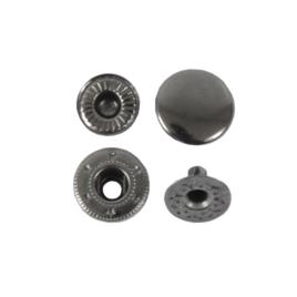 Кнопка галант 12,5мм блек никель роллинг