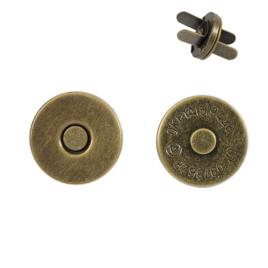 Магн,кнопка 14мм плоская антик роллинг