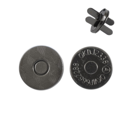 Магн,кнопка 14мм плоская блек никель роллинг