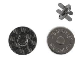 Магн,кнопка №12 18мм плоская блек никель роллинг
