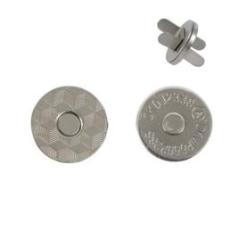 Магн,кнопка №12 18мм плоская никель роллинг