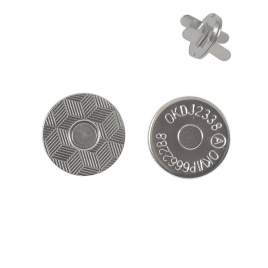 Магн,кнопка 14мм плоская никель роллинг
