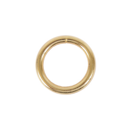 Кольцо №16 разъемн 4,8/24/33,6мм светлое золото роллинг
