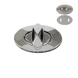 Застежка поворотная F 0118 (7154) никель полир
