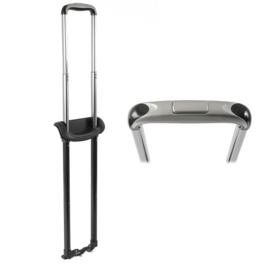 Стойки в разобран. виде к тележке GB6B- 3 22  блек никель (2мет.стойки+1 пл. ручка+3пл. держат.)
