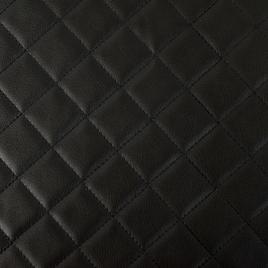 PU  искуствен.кожа с поролоном Embroidery Cell (клетка) 30*30 black