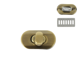Застежка поворотная 3455 (С547 Z) антик полир