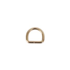 Полукольцо 15х13 мм (3мм) светлое золото роллинг