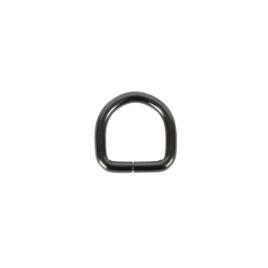 Полукольцо 20х21мм (4мм) блек никель роллинг