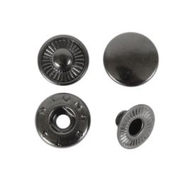 Кнопка галант 15мм блек никель роллинг