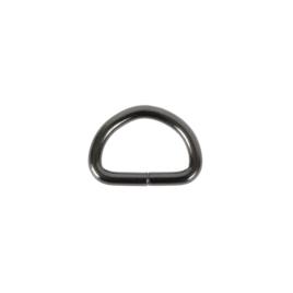 Полукольцо 25х16мм (4мм) блек никель роллинг