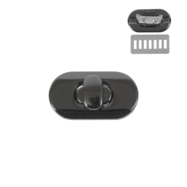 Застежка поворотная 3455 (С547 Z) блек никель полир