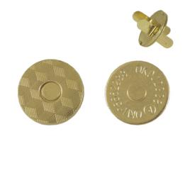 Магн,кнопка №12 18мм плоская светлое золото роллинг
