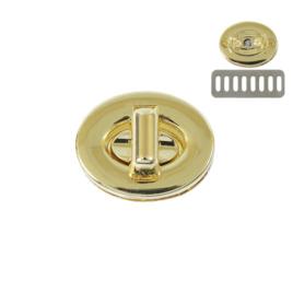 Застежка поворотная 7195 светлое золото полир