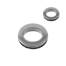 Люверс овальный 7621AB никель полир