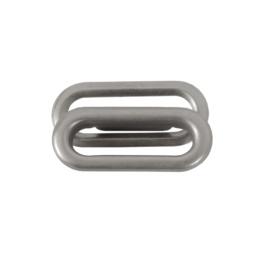 Люверс овальный 25мм мат никель роллинг