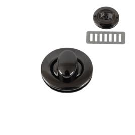 Застежка поворотная PX039 блек никель полир (7621)
