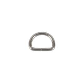 Полукольцо 12х8 мм (2мм) никель роллинг