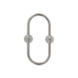 Кольцо овальное 3510 никель полир