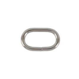 Кольцо овальное 25х12,5мм (3,63мм) никель роллинг (4665(25))