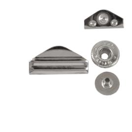 Кнопка галант №2 никель роллинг