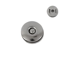 Магн,кнопка №1 18мм плоская (с отверстием) никель роллинг Y