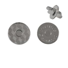 Магн,кнопка №12 18мм плоская никель роллинг Y