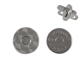Магн,кнопка 14мм плоская никель роллинг Y