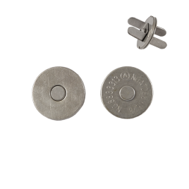 Магн,кнопка №12 18мм мат/ник плоская С