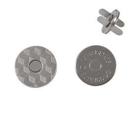 Магн,кнопка №12 18мм плоская никель роллинг L
