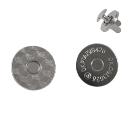 Магн,кнопка d=18мм плоская+холн d=12мм никель L