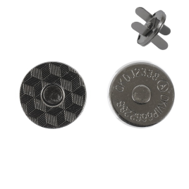 Магн,кнопка №12 18мм плоская блек никель роллинг Y
