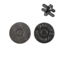Магн,кнопка 14мм плоская блек никель роллинг Y