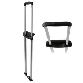 Стойки д/чемоданов в сборе T325-2 22 черн/мат. никель