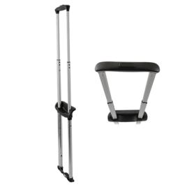 Стойки д/чемоданов в сборе T325-3 18 черн/мат. никель