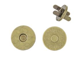 Магн,кнопка №12 18мм плоская антик роллинг L