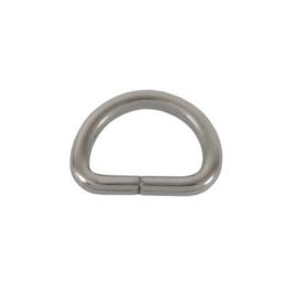 Полукольцо 15х10 мм (2,7мм) никель роллинг D