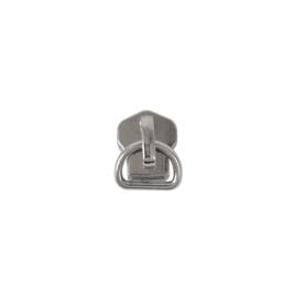 Бегунок №5+PD 006 никель автополир на металл молнию (для вида К) (264) X